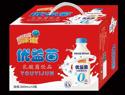 优益菌乳酸菌饮品340mlX12瓶礼盒装