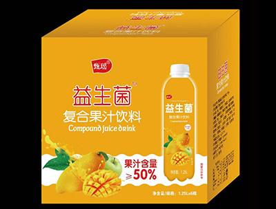 益生菌复合果汁饮料芒果味1.25L箱装