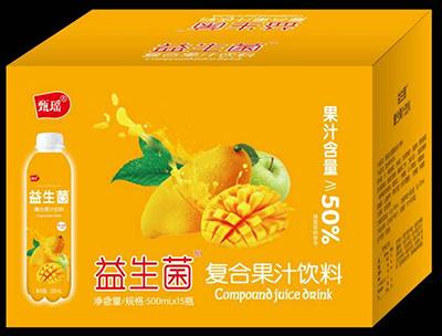 益生菌复合果汁饮料芒果味500ml箱装