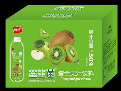 益生菌复合果汁饮料猕猴桃味500ml箱装