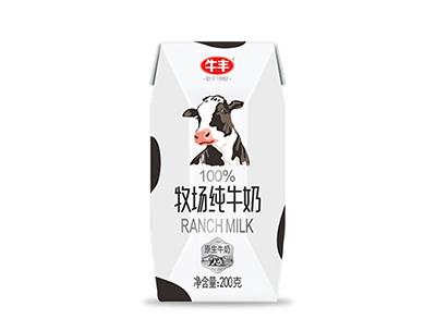 牛�S牧�黾�牛奶200g*12