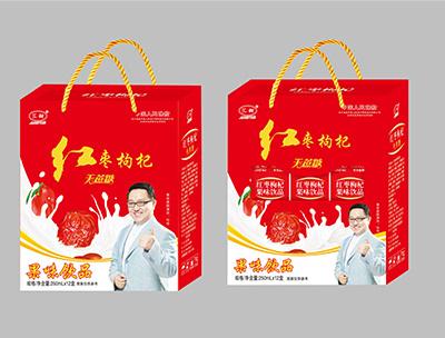 汇田红枣枸杞果味饮品手提250ml×12