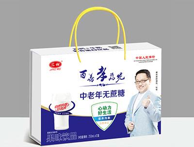 汇田中老年无蔗糖-果味饮品250ml×12