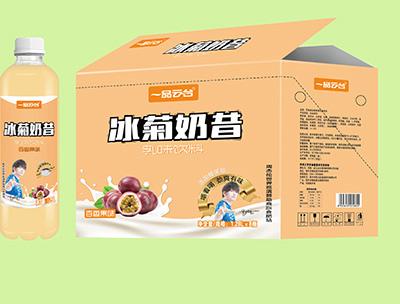 冰菊奶昔百香果乳味�料1.28LX8瓶