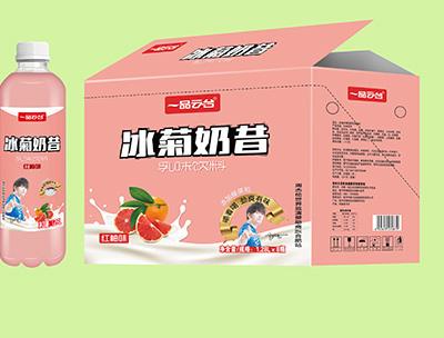 冰菊奶昔�t柚味乳味�料1.28LX8瓶