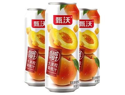 甄沃大果粒黄桃汁