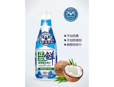 海南特�N兵�r榨椰子汁1.25L瓶�b