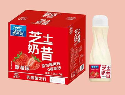 泰子奶芝士奶昔草莓味1.25L*6瓶