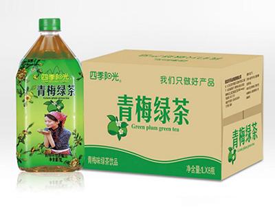 四季阳光 青梅 绿茶1L*8瓶