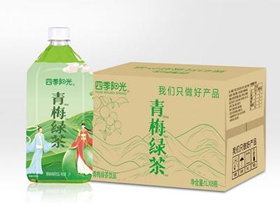 四季阳光 青梅 绿茶 1L*8瓶