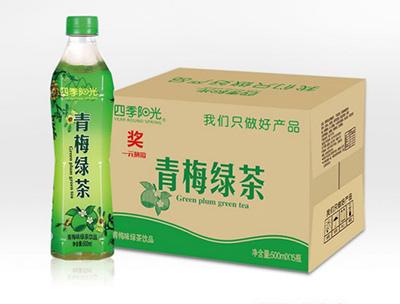 四季阳光 青梅 绿茶500ml*15瓶