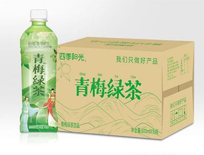 四季阳光 青梅 绿茶 500ml*15瓶