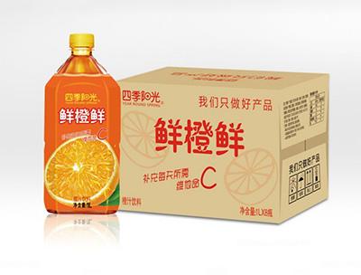 四季阳光鲜橙鲜1L*8瓶