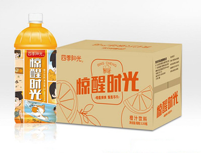 四季阳光惊醒时光橙汁1L*8瓶