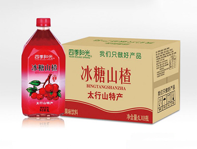 四季阳光冰糖山楂1L*8瓶