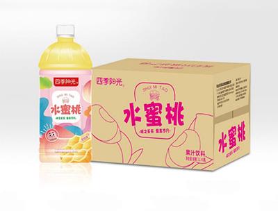四季阳光 水蜜桃1L*8瓶