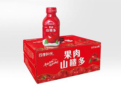 四季阳光果肉山楂多350ml*12瓶