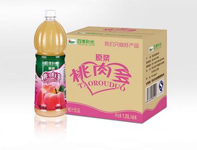 四季阳光桃肉多1.25L*6瓶