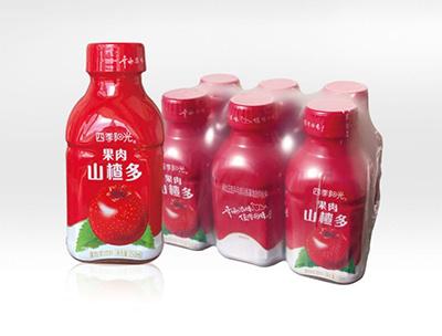 四季阳光果肉山楂多350ml*6瓶
