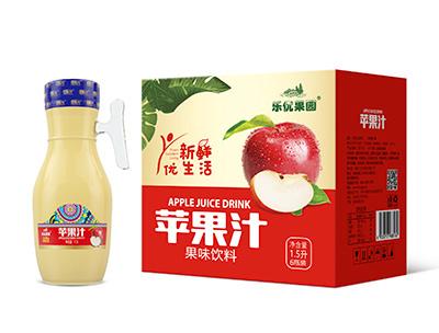 苹果汁果味饮料1.5L*6