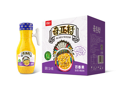 奇亚籽百香果复合果汁饮料1.5L*6