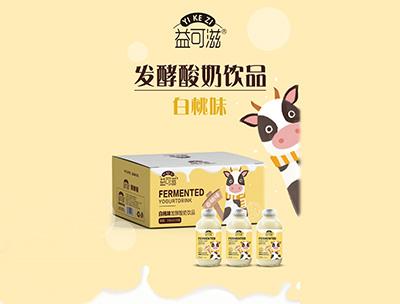 益可滋�l酵酸奶白桃味318ml