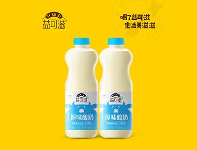 益可滋�l酵酸奶�品原味1L