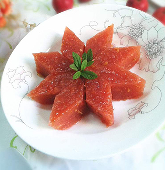 甜品山楂糕――�_胃消食助消化