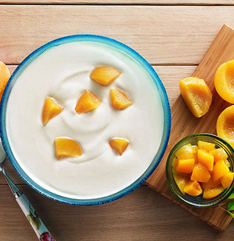 芒果果粒酸奶的做法