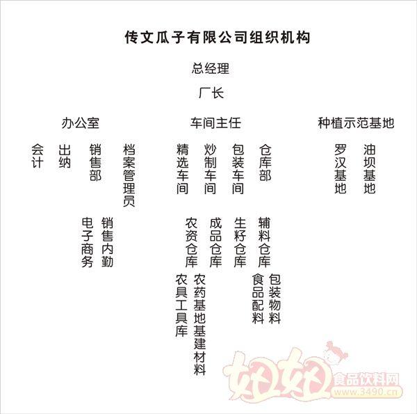 潜山县传文瓜子有限公司组织结构-妞妞食品饮料招商