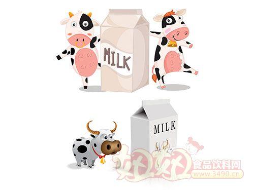 儿童牛奶手绘海报