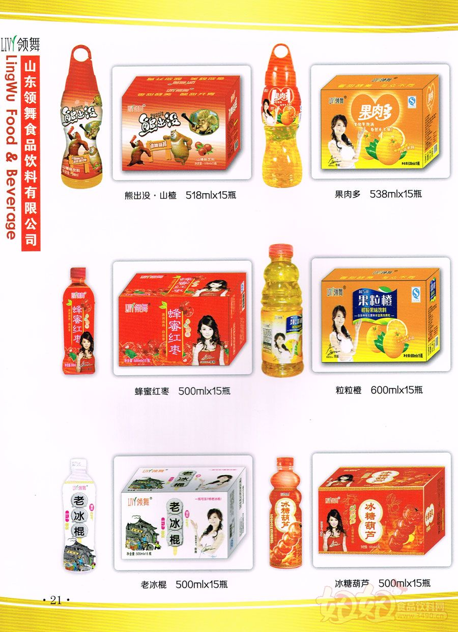 山东领舞食品有限公司饮料产品