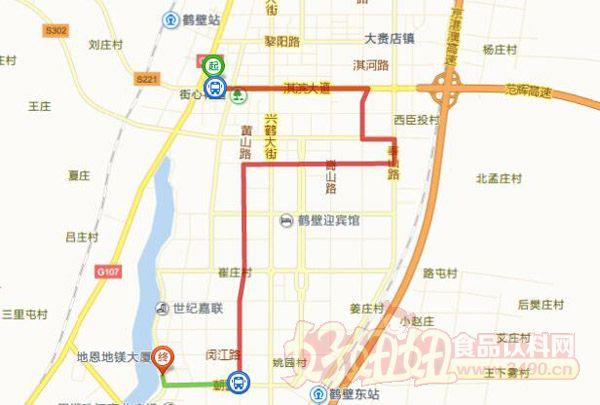 鹤壁市淇滨汽车站到鹤壁会展中心