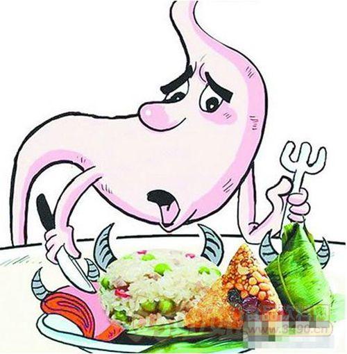 避免因吃粽子引起肠胃不好
