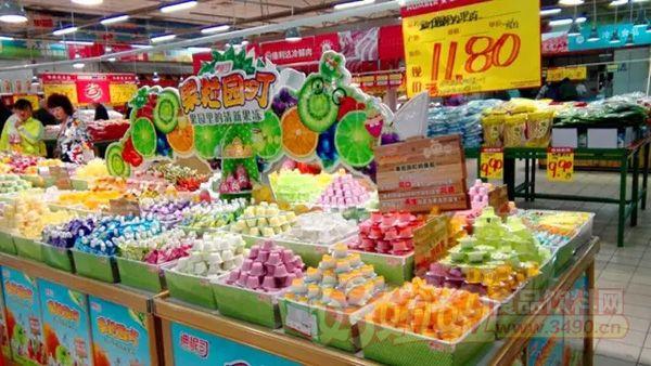 了国内果冻行业新秀——上海迪怩司食品销售有限公司的散柜优秀陈列图片