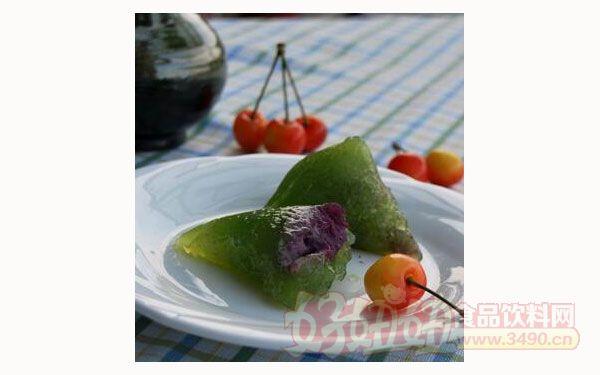 精美的水晶西米紫薯粽_水晶粽子的做法-好妞妞食品网.