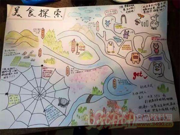 只是手绘了张美食地图!