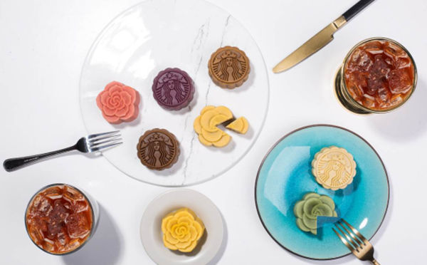 迷你灯笼包装月饼上市 星巴克用创意和美味点亮中秋图片