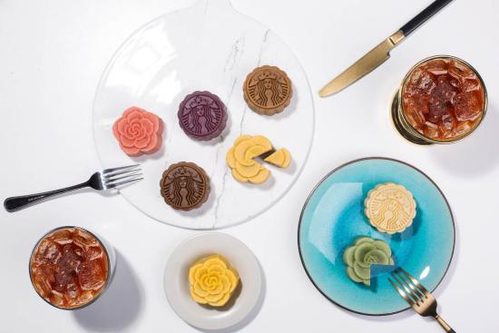 星巴克推出三款灯笼包月饼图片