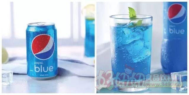 """蓝色百事可乐以""""巴厘岛有三蓝:蓝色的天,蓝色的海,还有蓝色的"""