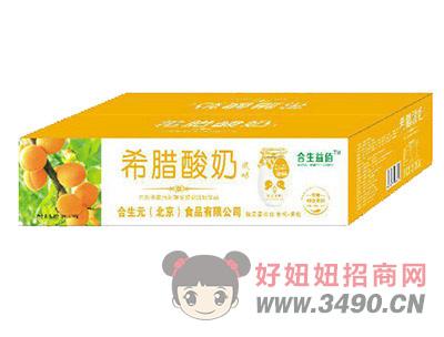 合生益佰希腊酸奶黄桃+果粒200gx12罐箱装