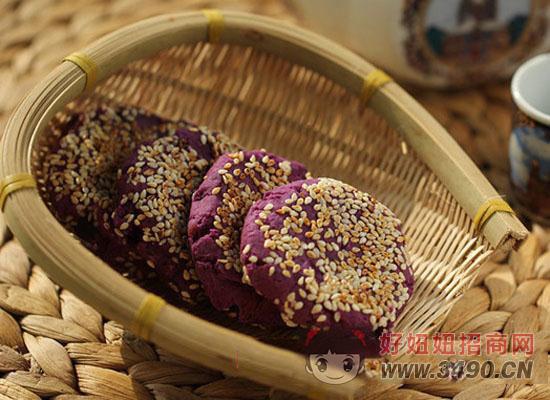 豆浆紫薯豆沙饼