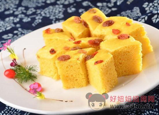豆浆玉米发糕