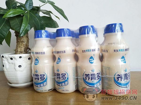 晋动力养胃多乳酸菌340ml原味4瓶装