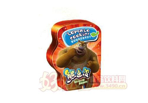 熊出没造型曲奇饼(铁盒装)番茄味