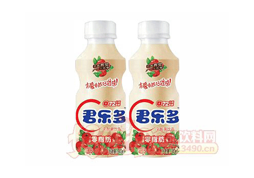 君乐多山楂味乳酸菌饮品340ml