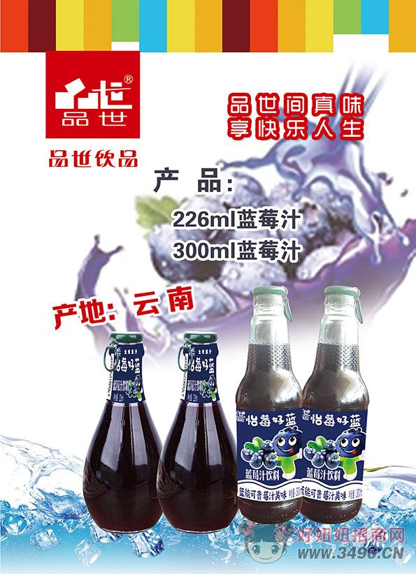 品世300ml蓝莓汁饮料