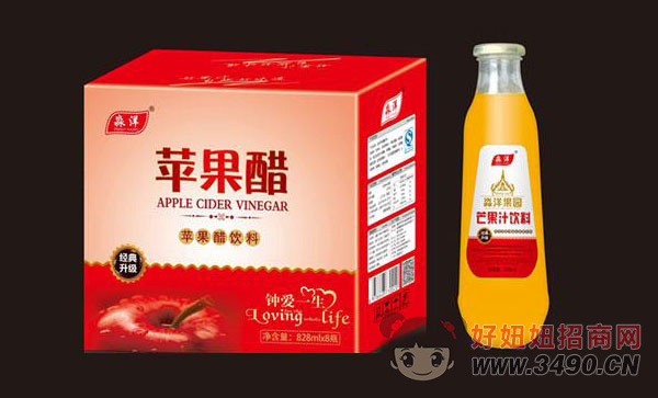 �O果醋�料芒果味828mlx8瓶
