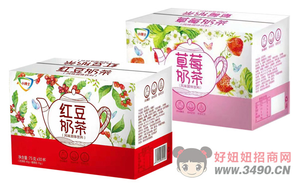 小博士草莓奶茶、�t豆奶茶