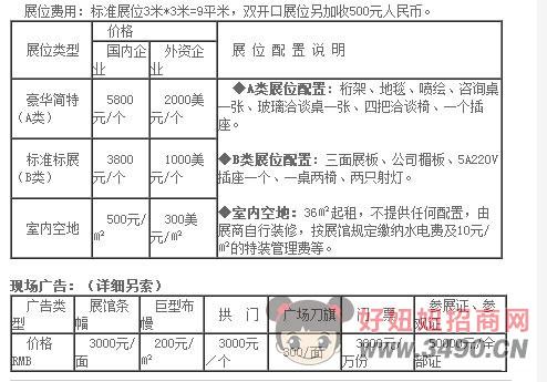 2018徐州糖酒会收费标准?